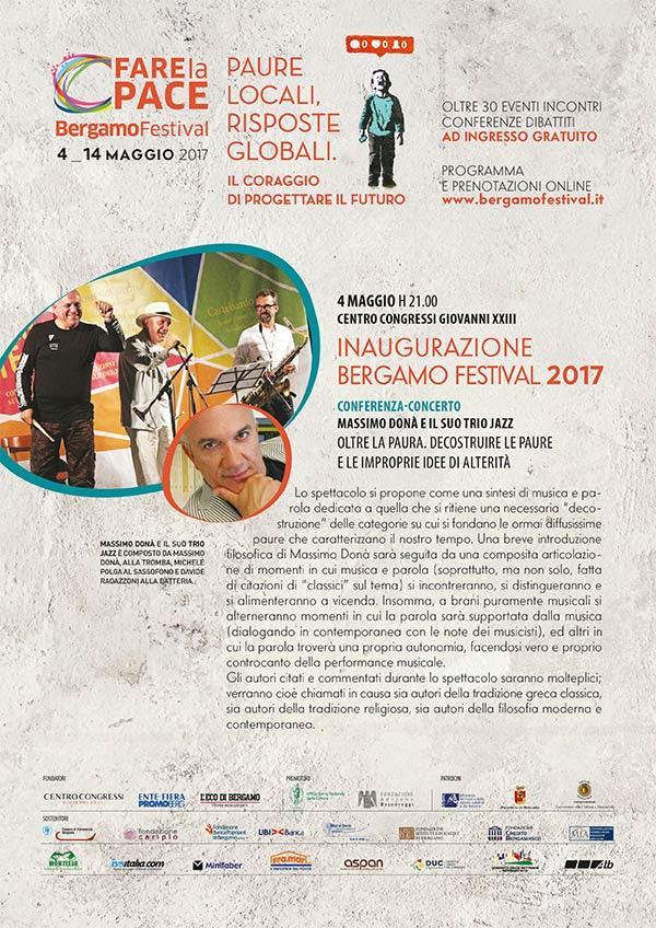 Bergamo Festival Fare la Pace 2017 - COMING SOON
