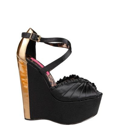 Betsey Johnson Britt Satin Wedges