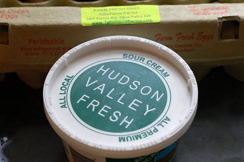 Local sourcream, local eggs by Eve Fox, Garden of Eating blog, copyright 2012