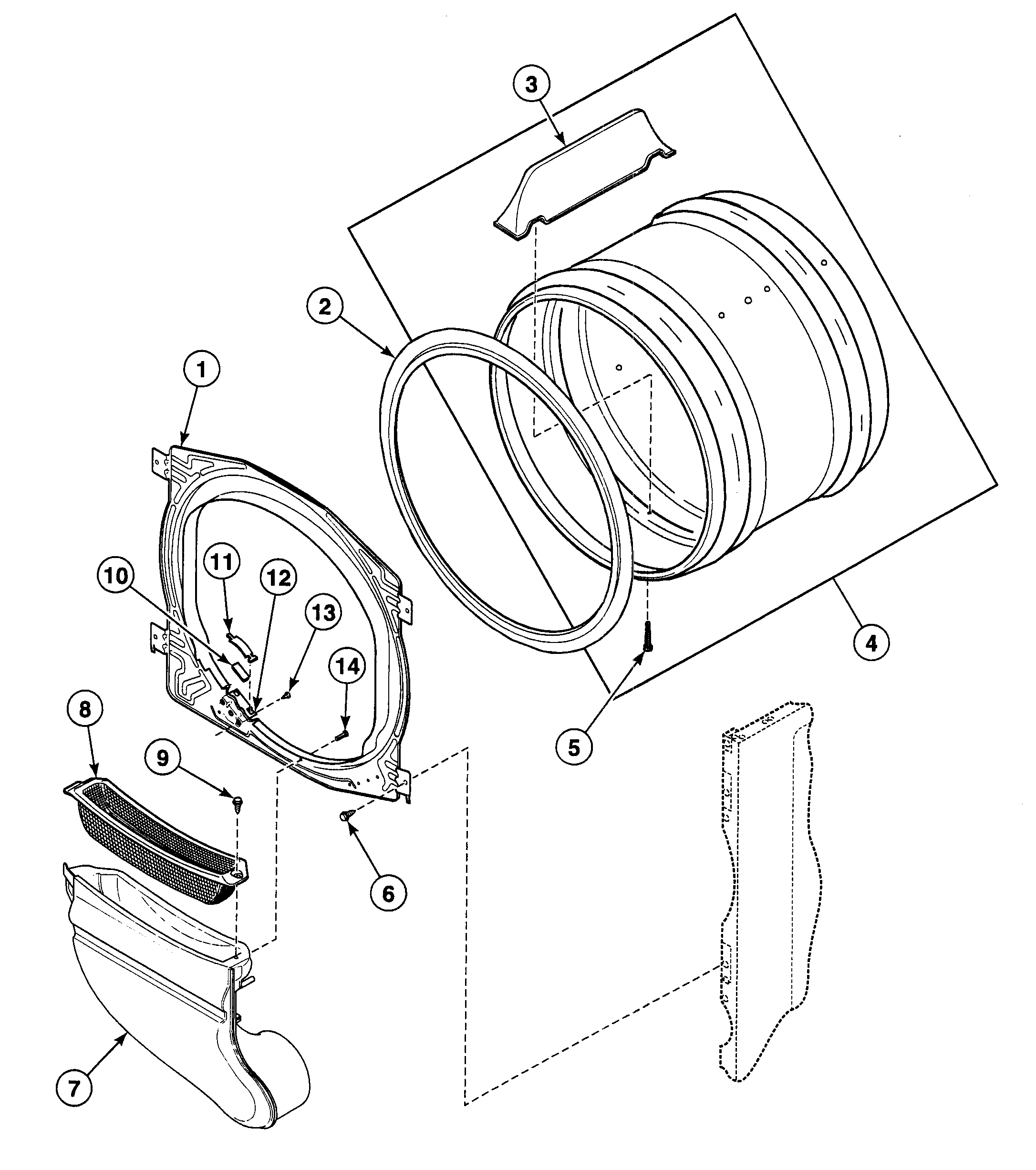27 Speed Queen Dryer Parts Diagram