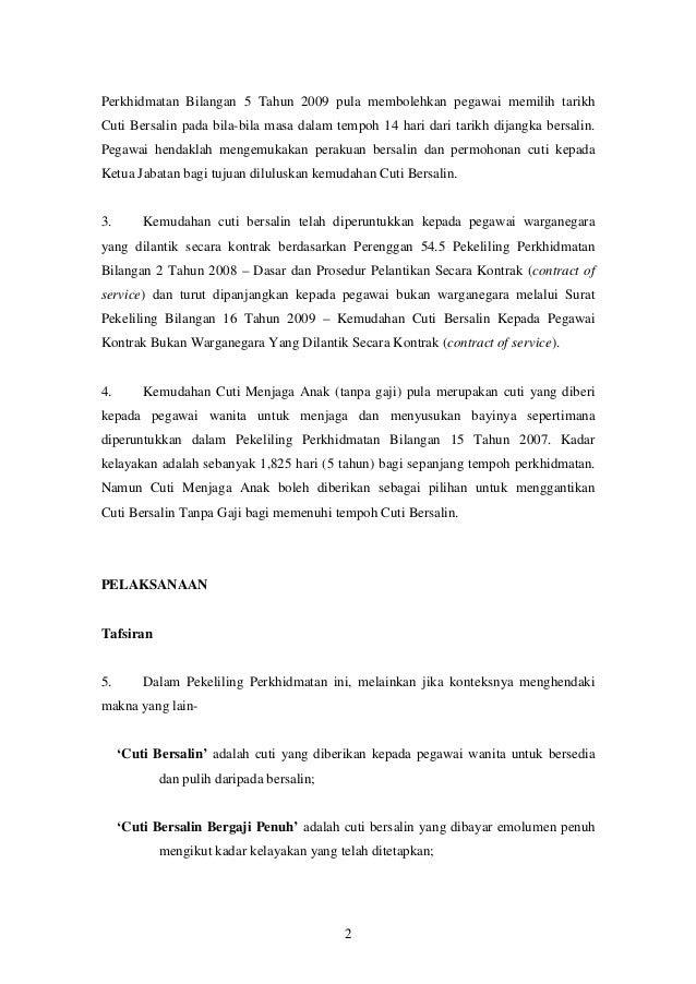 Surat Permohonan Cuti Tanpa Gaji Swasta Rasmi F