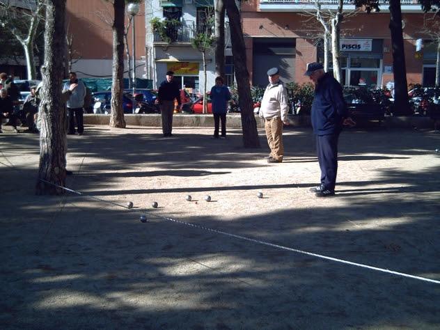 Playing La Petanca in Barcelona Spain
