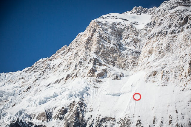 Ueli Steck Annapurna climbing route