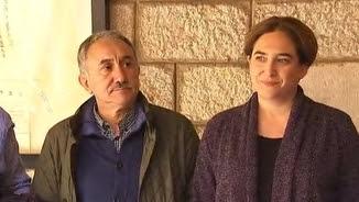 Ada Colau amb el líder d'UGT, Josep Maria Álvarez