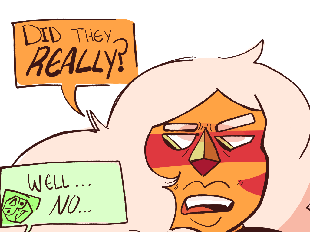 i lowkey miss villain peridot redraw of this comic i made in, like, 2015