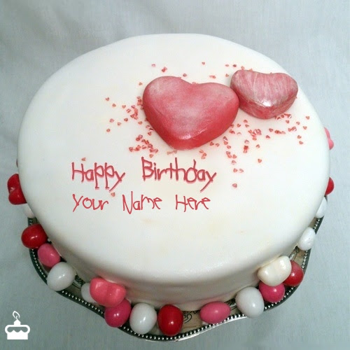 Beautiful Rose Cake With Name