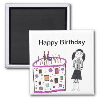 16 candles on my cake magnet