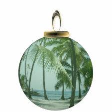 Hawaiian Beach Ornament photosculpture