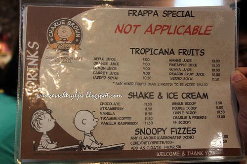 Charlie Brown Cafe - menu 02