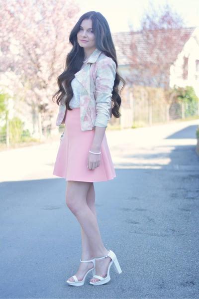 H&M top - Zara heels - Zara skirt - H&M bracelet