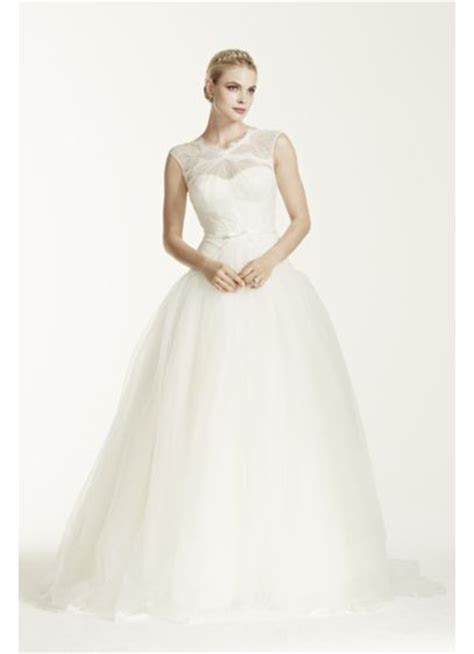 Truly Zac Posen Lace and Tulle Wedding Dress   Davids Bridal