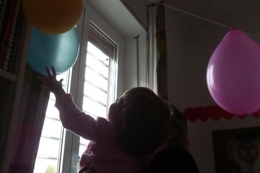 Il tocco del primo palloncino in alto!!