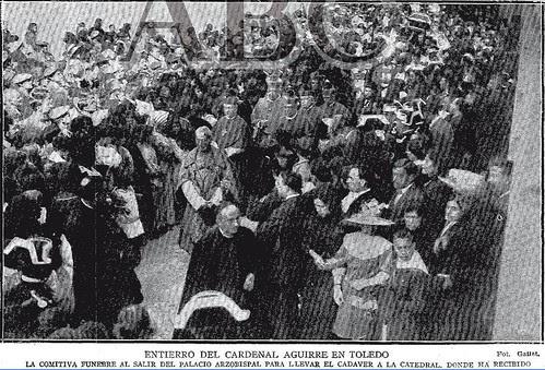 Entierro del Cardenal Aguirre en Toledo el 12 de octubre de 1913. Foto Gallet para ABC