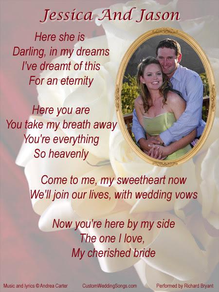Custom Wedding Songs Lyric Sheet G Wedding Bouquet