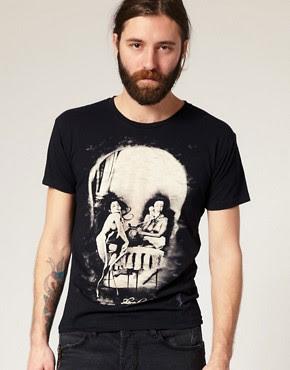 Image 1 of Religion Naked Skull Print T-Shirt