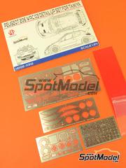 Hobby Design: Fotograbados escala 1/24 - Peugeot 206 WRC 2003 - fotograbados, piezas de metal - para kit de Tamiya TAM24267
