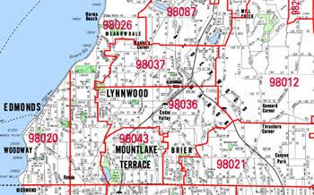 Seattle Washington Zip Code Map | World Map Gray