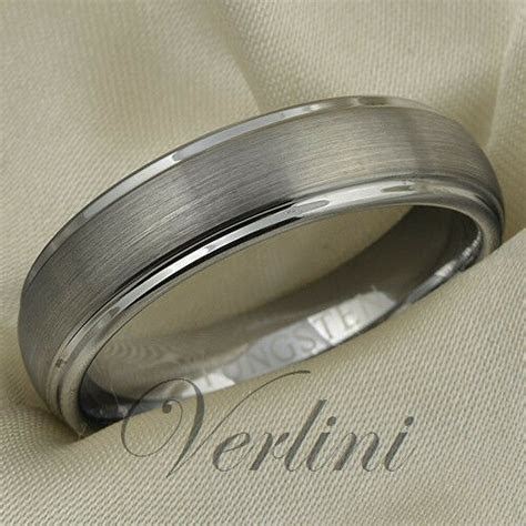 Mens Tungsten Ring Love Wedding Band 6mm Bridal Jewelry