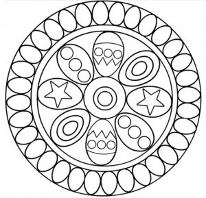 Easter mandala coloring page | Crafts and Worksheets for ...