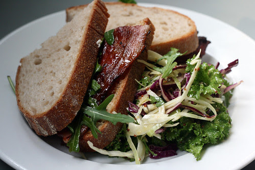 Bacon and marmalade sandwich