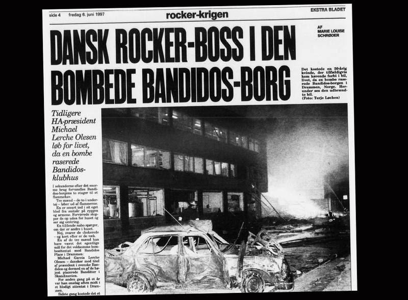 Danske 'Mike' blev i samtiden udpeget som muligt mål for den voldsomme bilbombe i Drammen. Ekstra Bladet 6. juni 1997