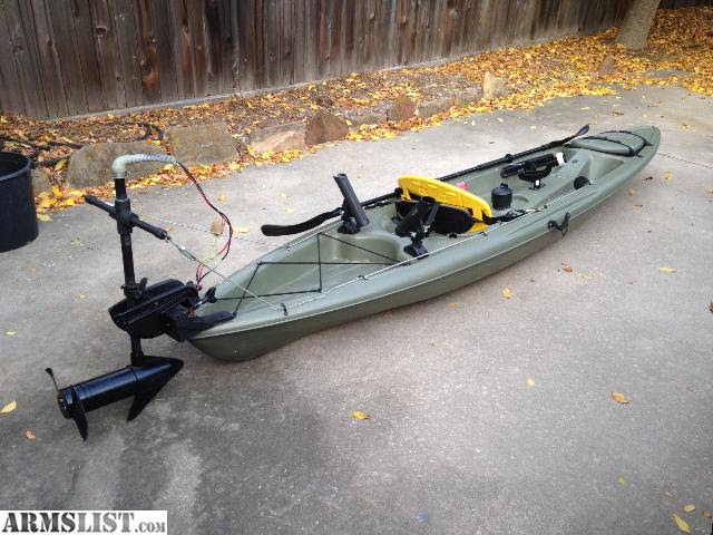ARMSLIST - For Sale: 12' Kayak with Trolling Motor (Great fishing rig)