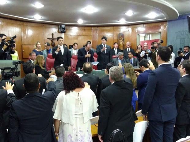Vereadores tomam posse na Câmara de João Pessoa (Foto: Angélica Nunes/Jornal da Paraíba)