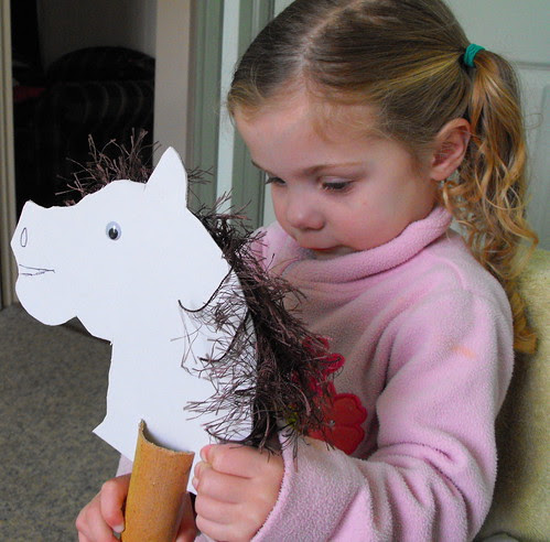 Amelia and her hobby horse