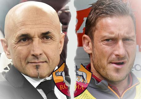 Il tecnico della Roma, Luciano Spalletti e Francesco Totti: tra loro è rottura ufficiale © ANSA