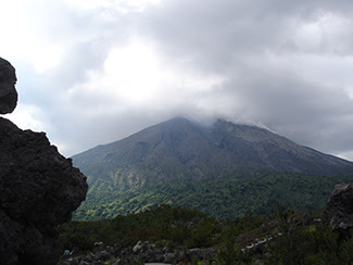 Nature's version of geoengineering includes volcanoes, like Japan's Sakurajima, that change the climate by injecting huge, sulfurous clouds into the air. Photo by David McKelvey, courtesy of Flickr.