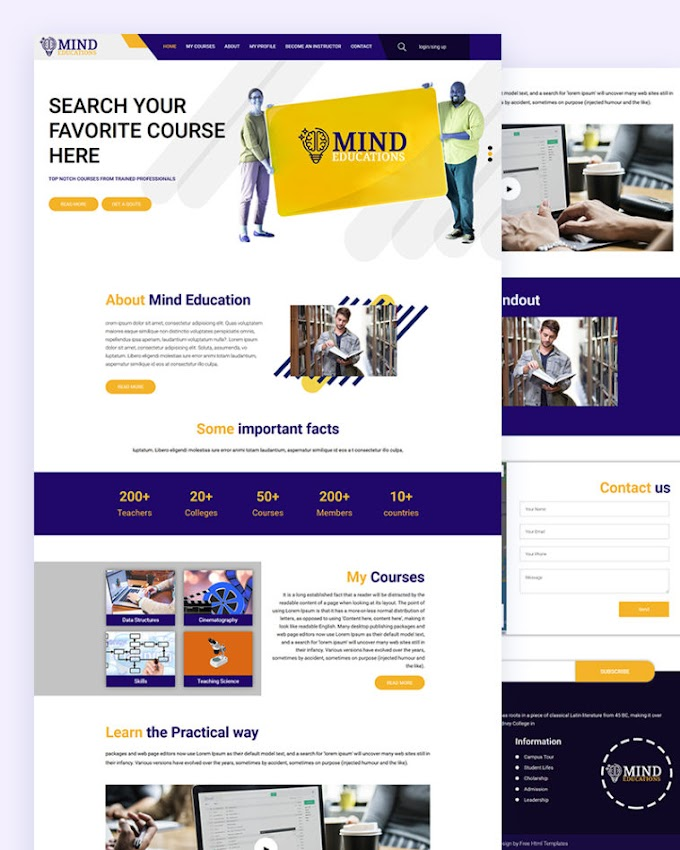 Mind – Free Education Html Template