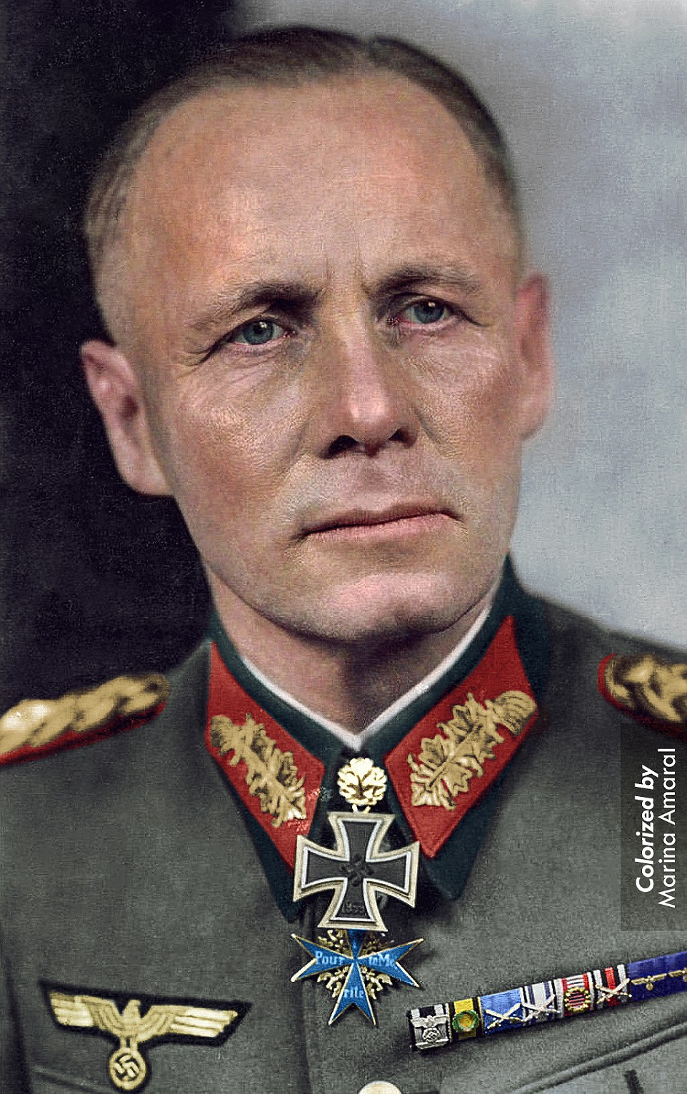 The Desert Fox: Erwin Rommelwas a senior German Army officer during World War II. He was implicated in a plot to overthrow Hitler and in 1944 he took his own life by biting into a cyanide capsule