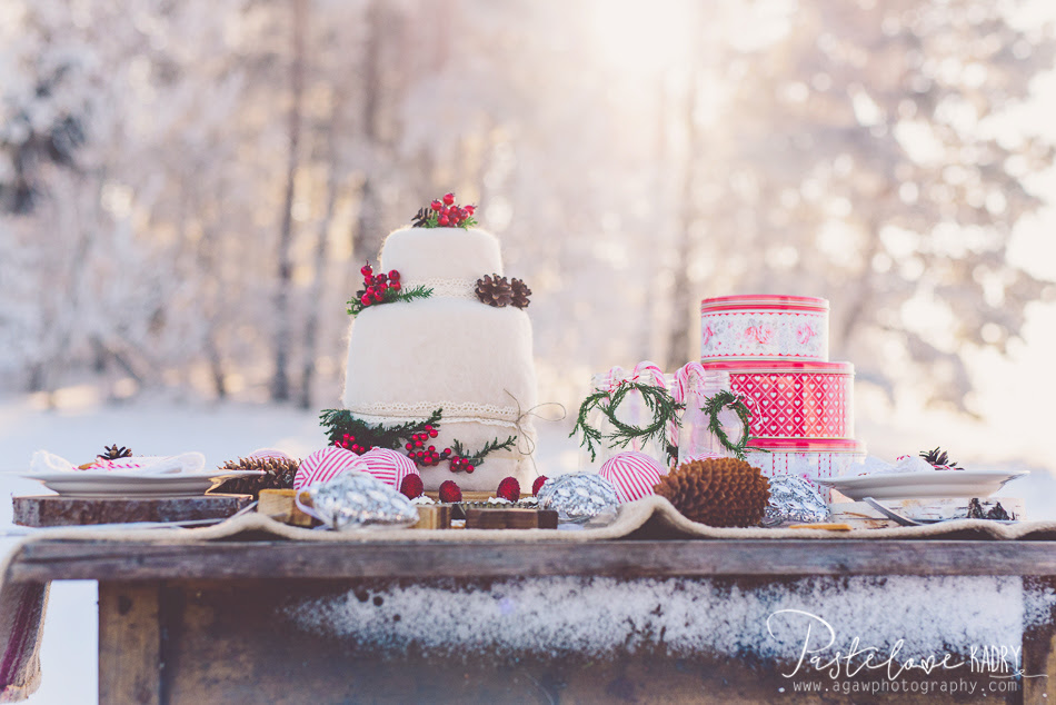 zimowe dekoracje slubne