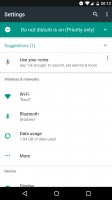 New Settings with glanceable information and a navigation drawer - Android 70 Nougat review