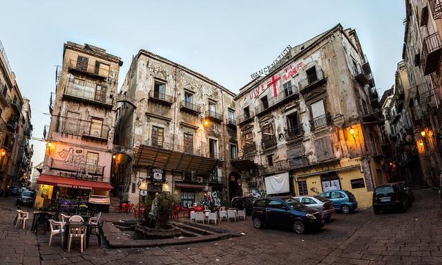 Panorámica, calles de Palermo