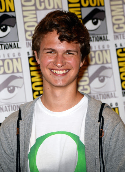 Ansel Elgort Actor Ansel Elgort attends the 'Divergent' press line during Comic-Con International 2013 at Hilton San Diego Bayfront Hotel on July 18, 2013 in San Diego, California.