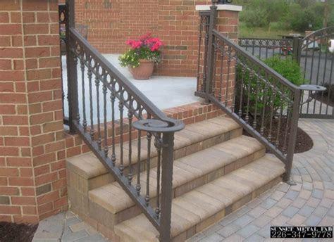 modern balcony railing simple design  metal fence