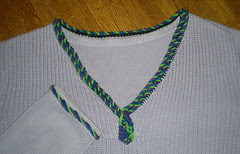 Nalbound Edge on sweater