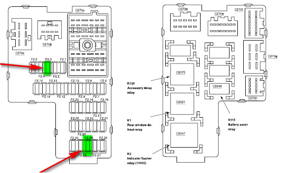 1999 Mercury Mountaineer Fuse Diagram