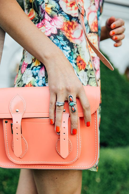 Love that bright purse!