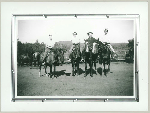 Twins with four horses
