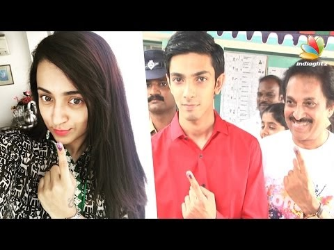 Trisha Anirudh And More Celebs Cast Their Vote At St