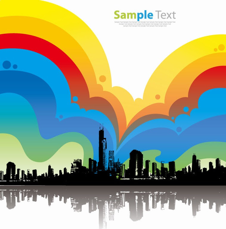 Colorful City Background Vector Illustration | Free Vector ...
