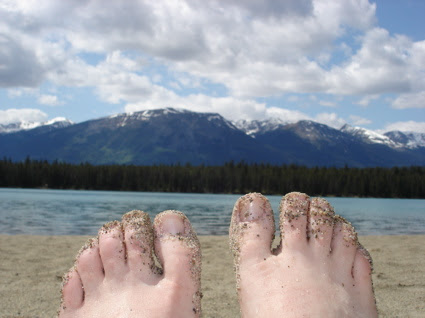 My feet visit Lake Annette