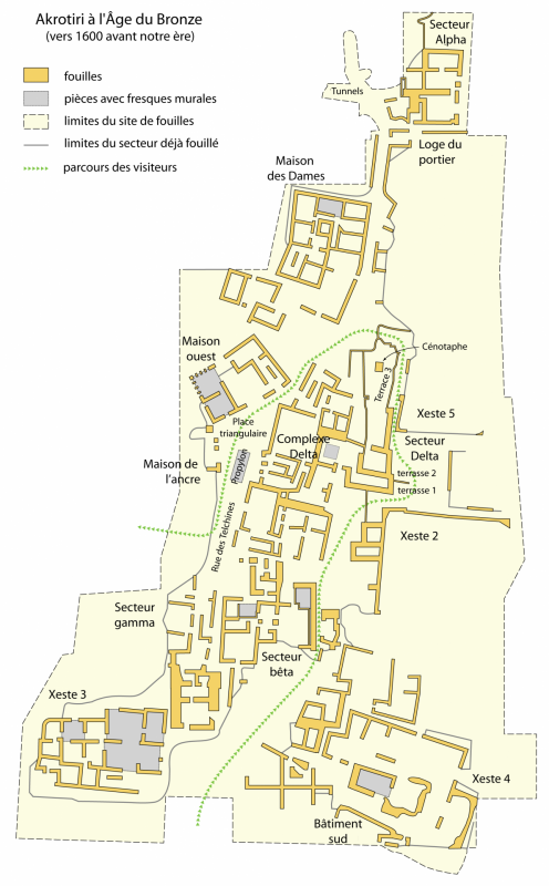 Map akrotiri 1600 bc fr