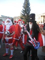 Slash Santa  - Santcon 2011 - Trafalgar Square