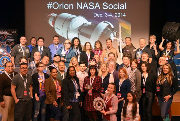 A group photo that we took during the NASA Social event at the Jet Propulsion Laboratory near Pasadena, California...on December 3, 2014.