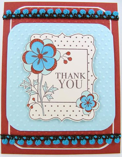 Blue Rust Thank You Card