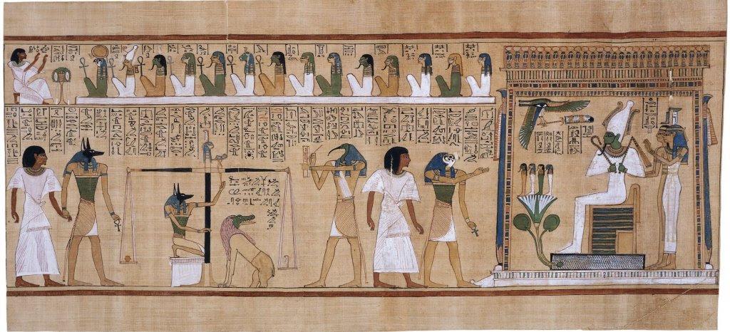Papiro de Hunefer (1275 a.C.) en el Museo Británico de Londres.