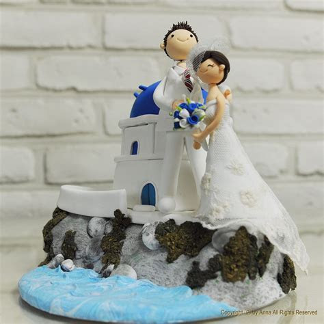 Beach wedding cake topper ~ Weddings in Greece